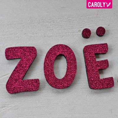 Letters glitter roze