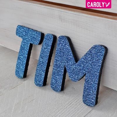 Letters glitter blauw