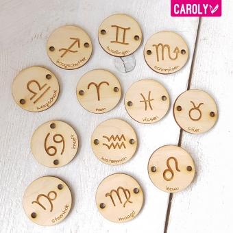 Setje labels met sterrenbeeld-wandhanger