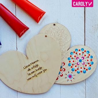 Stip hart met gedichtje (mama, papa, opa, oma)