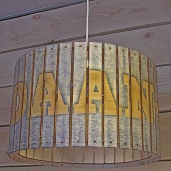 """Houten hanglamp """"sloophout"""" met naam"""